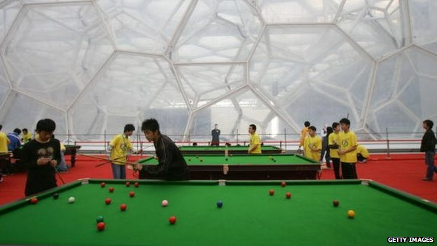 A junior snooker training camp in China