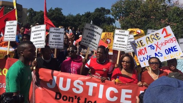Anti-xenophobia march in Johannesburg (23 April 2015)