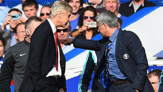 Arsenal's Arsene Wenger and Chelsea's Jose Mourinho