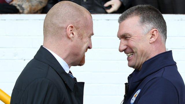 Sean Dyche and Nigel Pearson