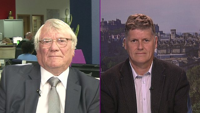 Ken Capstick from the Socialist Labour Party and Colin Fox from the Scottish Socialist Party