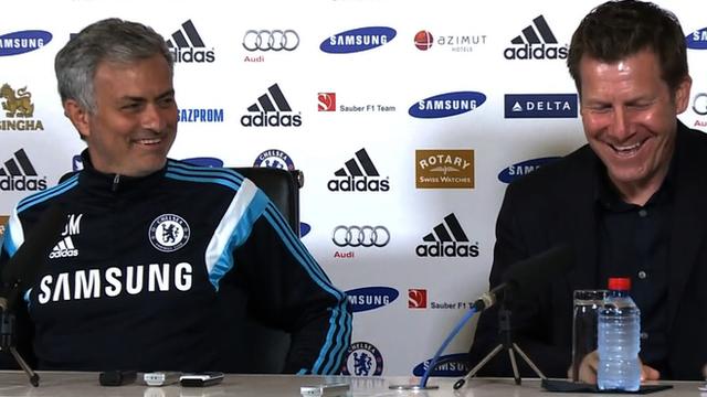 Jose Mourinho and press officer Steve Atkins