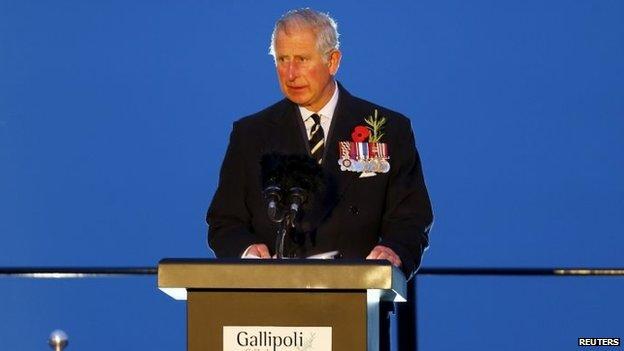Prince Charles at Gallipoli