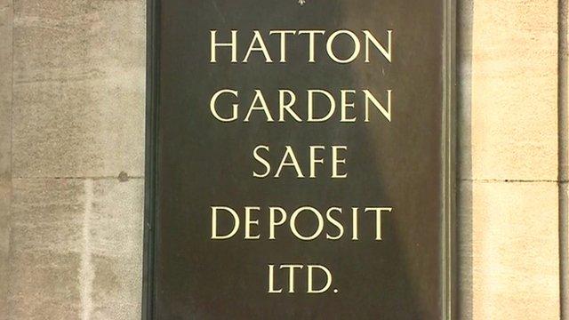 Hatton Garden Safe Deposit sign