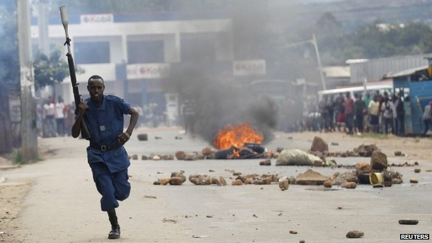 Street protests in Burundi in 2015