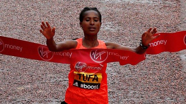 Ethiopia's Tigist Tufa wins