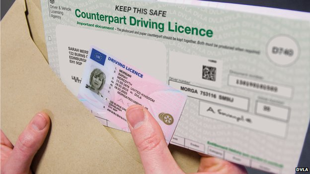 Driving licence counterpart