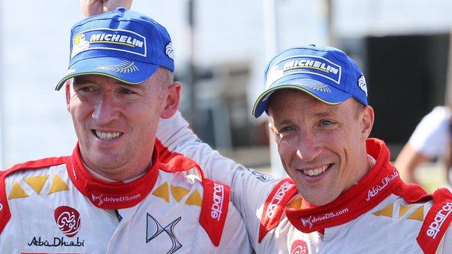 World Rally Team driver Kris Meeke and his co-driver Paul Nagle