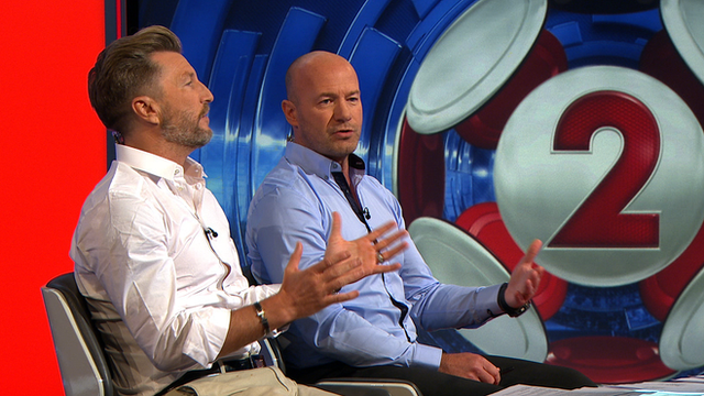 BBC football pundits Robbie Savage and Alan Shearer clash on a range of subjects during Sunday's Match of the Day 2 programme
