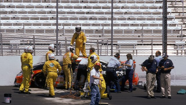 The aftermath of Adam Petty's crash