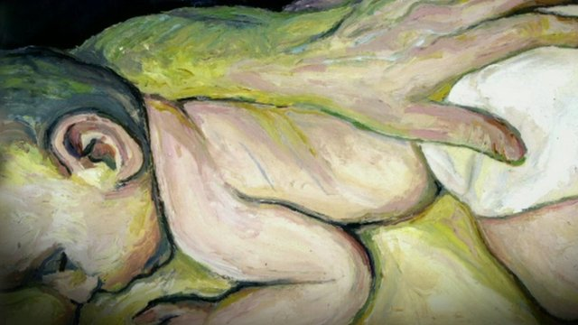 Tim Mathews winning painting