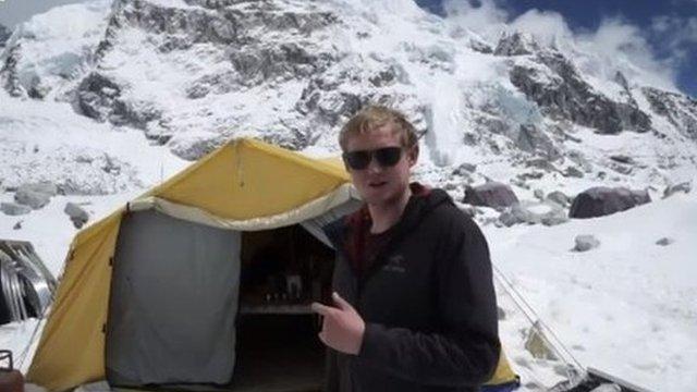 Thomas Martienssen at Everest base camp on April 18 2015