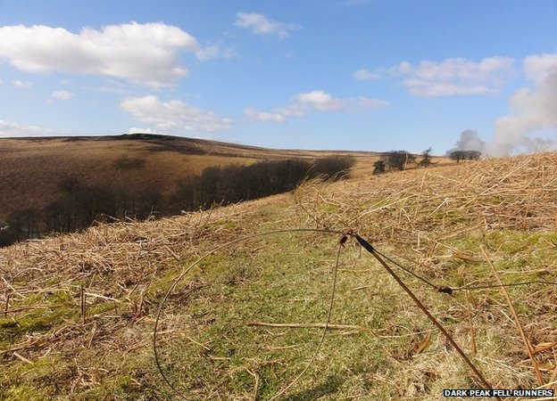 A snare set in an open access area of the Peak District