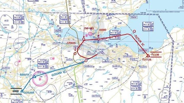 Edinburgh airport unveils flight path trial bbc news publicscrutiny Gallery