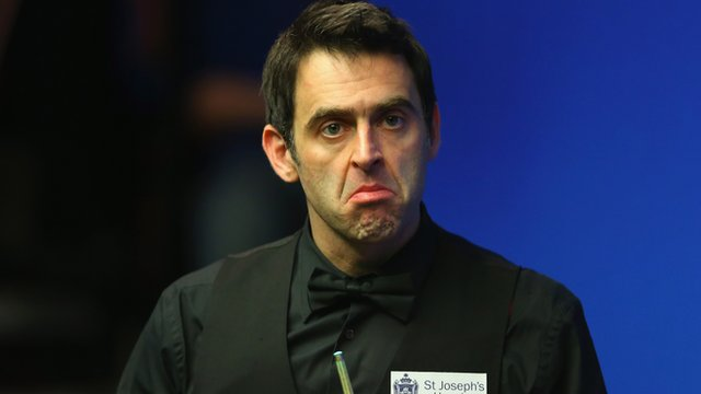 Ronnie O'Sullivan is knocked out of the World Snooker Championship