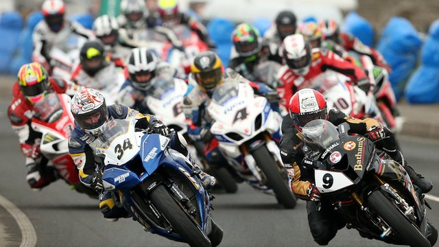 Action from the 2014 NW200