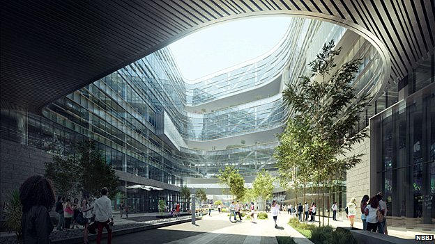 Render of what Samsung's US headquarters in San Jose will look like