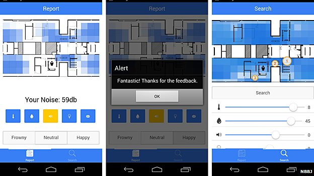 This app is designed to let workers find appropriate workspaces
