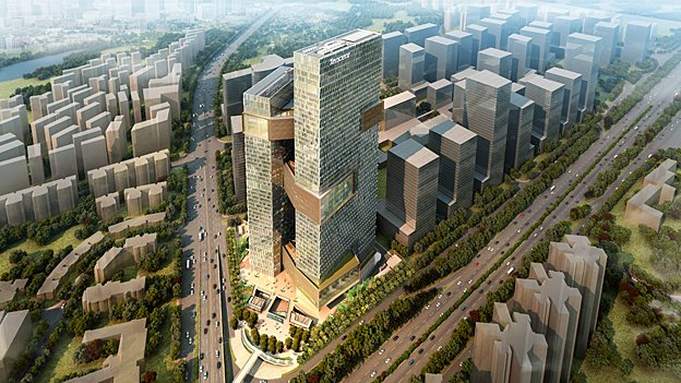 Architect's render of the new Tencent HQ