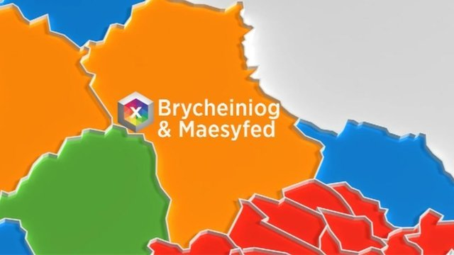 Map Brycheiniog & Maesyfed