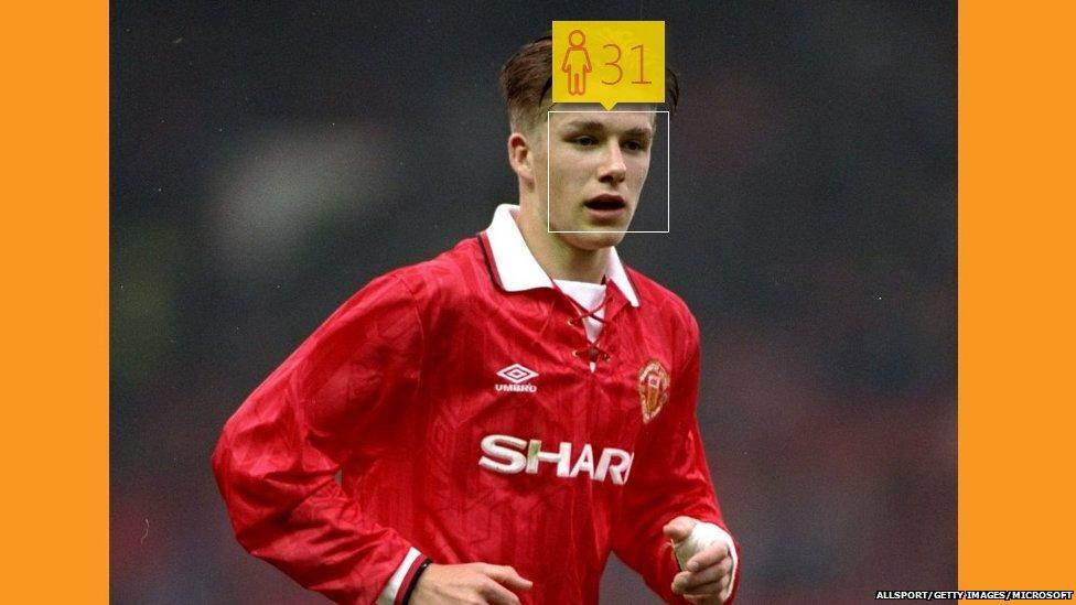 David Beckham in May 1993 aged 18