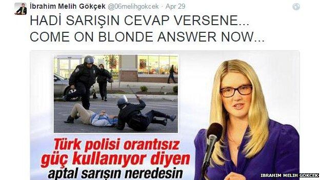 The tweet sent out by Ibraham Melih Gokcek