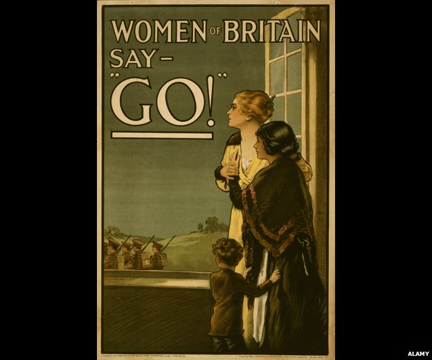 "Wartime poster reads: ""Women of Britain say - 'Go!'"""