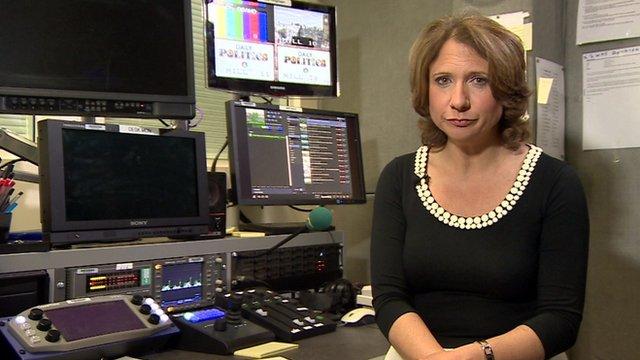 Jo Coburn in TV edit suite