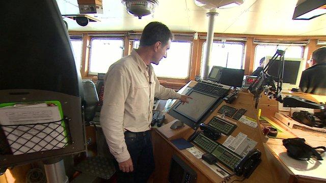David Shukman on bridge of Lance