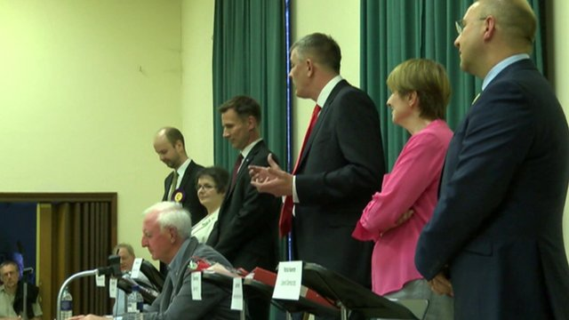 Candidates in Surrey South West seat
