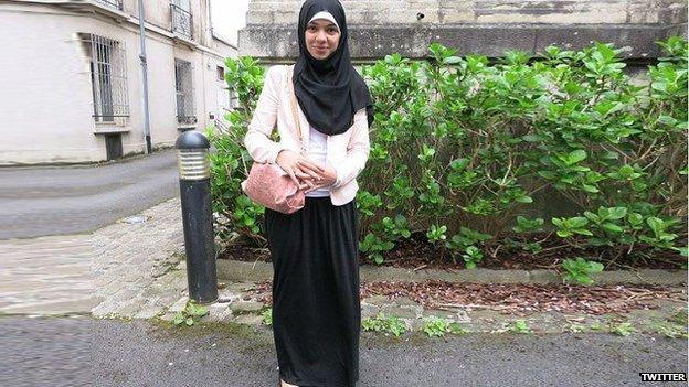 Girl with long skirt