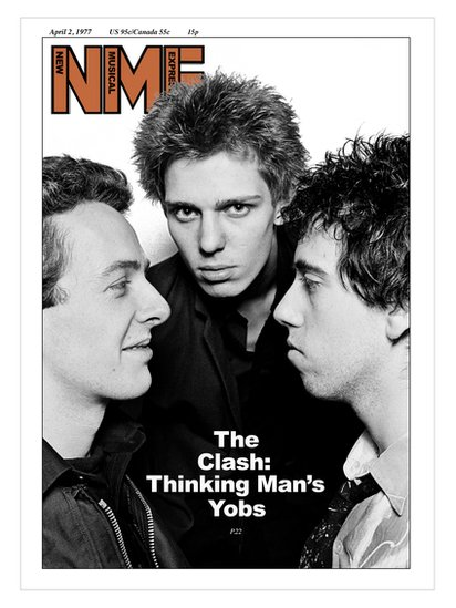 The Clash, ar glawr yr NME yn 1977 / The Clash on the cover of the NME in 1977