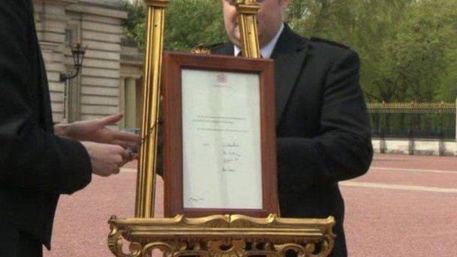 Easel at Buckingham Palace
