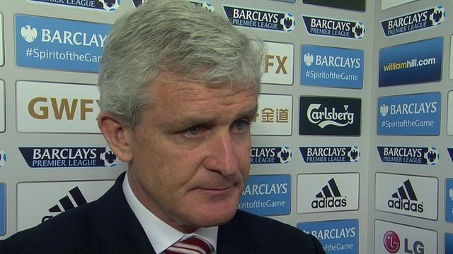 Hughes' thoughts after 2-0 defeat to Swansea