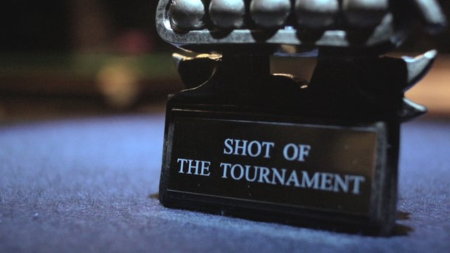 The 'shot of the tournament' trophy