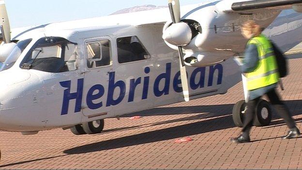 Itealan le Hebridean Air Services Eta