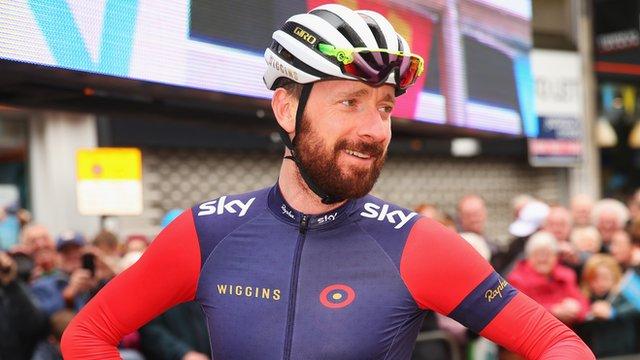 Bradley Wiggins at the 2015 Tour de Yorkshire