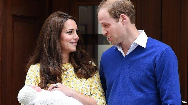Duke and Duchess of Cambridge and Princess Charlotte