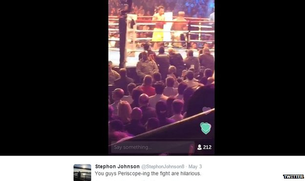 Boxing match stream
