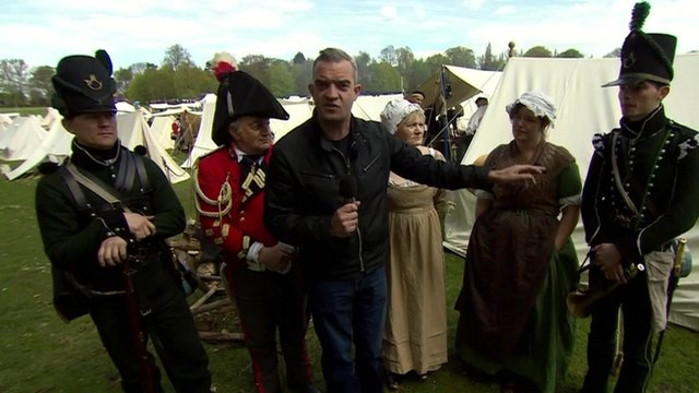 Giles Dilnot talks to members of the Napoleonic Association in Nottingham about their voting intentions.