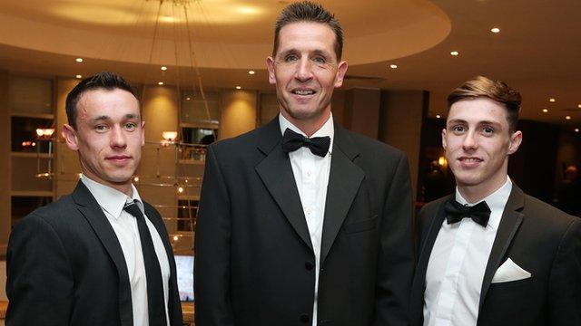 Paul Heatley, Stephen Baxter and Gavin Whyte