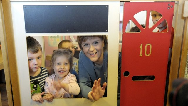 Nicola Sturgeon in playhouse