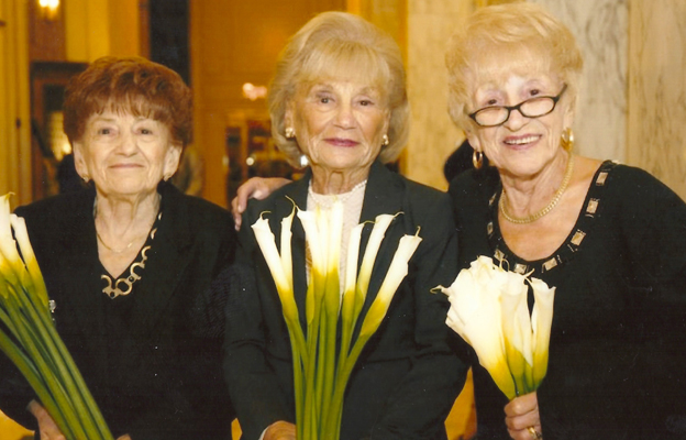 Sala (Sally - left) with her sisters Ruth (centre) and Regina, 2015