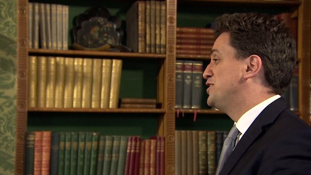 Labour leader Ed Miliband in a BBC interview