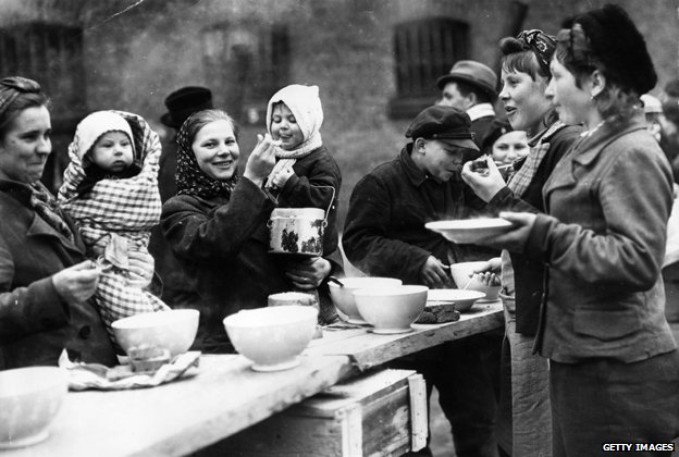 A displaced persons camp in Germany, March 1945