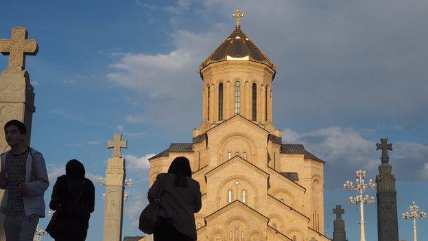 The Holy Trinity Cathedral, Tbilisi, Georgia