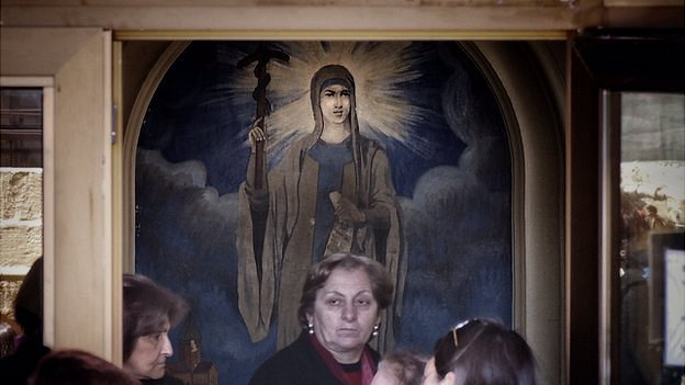Religious iconography in a school in Tbilisi