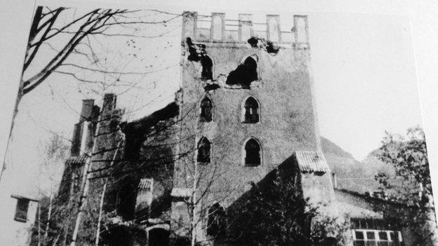 Battle-scarred Schloss Itter