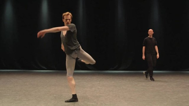 Edward Watson in rehearsals for Woolf Works
