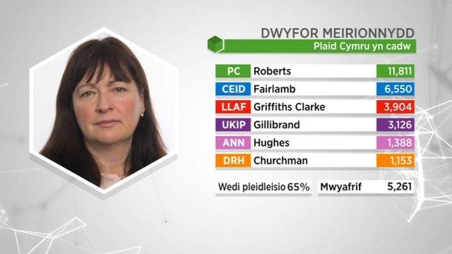 Canlyniad: Dwyfor Meirionnydd